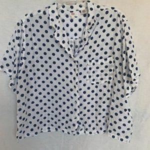 Levi's Black and White Polka Dot Camp Shirt